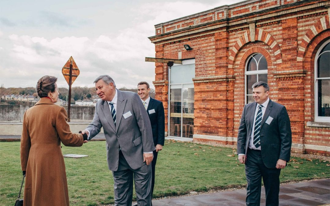HRH The Princess Royal opens Chatham's Copper Rivet Distillery
