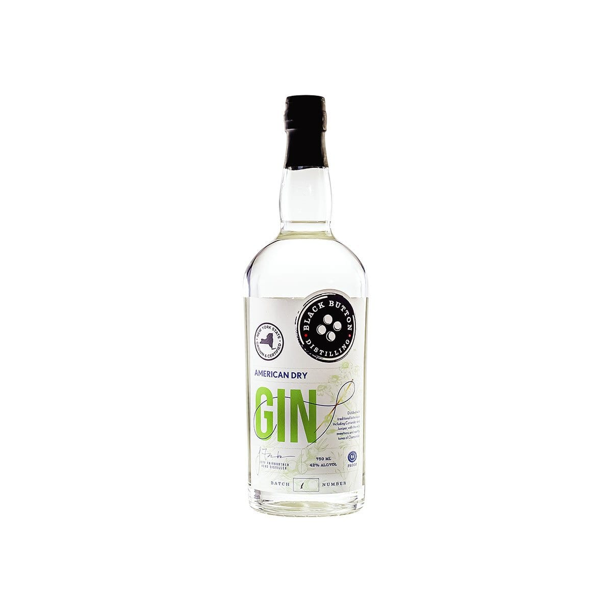 Black Button American Dry Gin