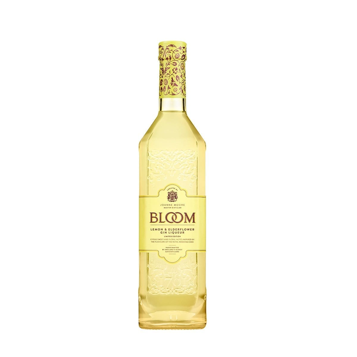 BLOOM Lemon & Elderflower gin bottle