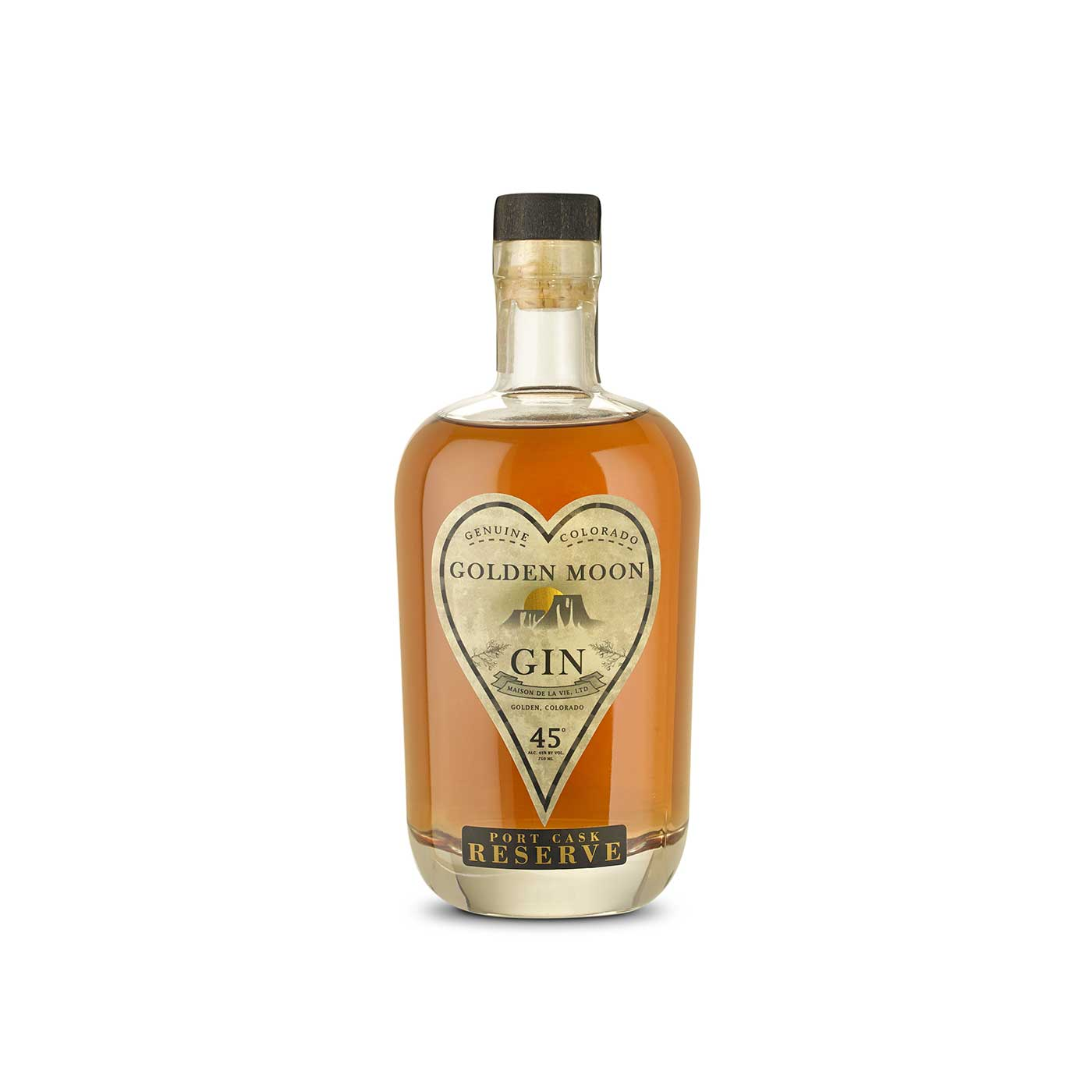 Golden Moon Port Cask aged Gin Bottle