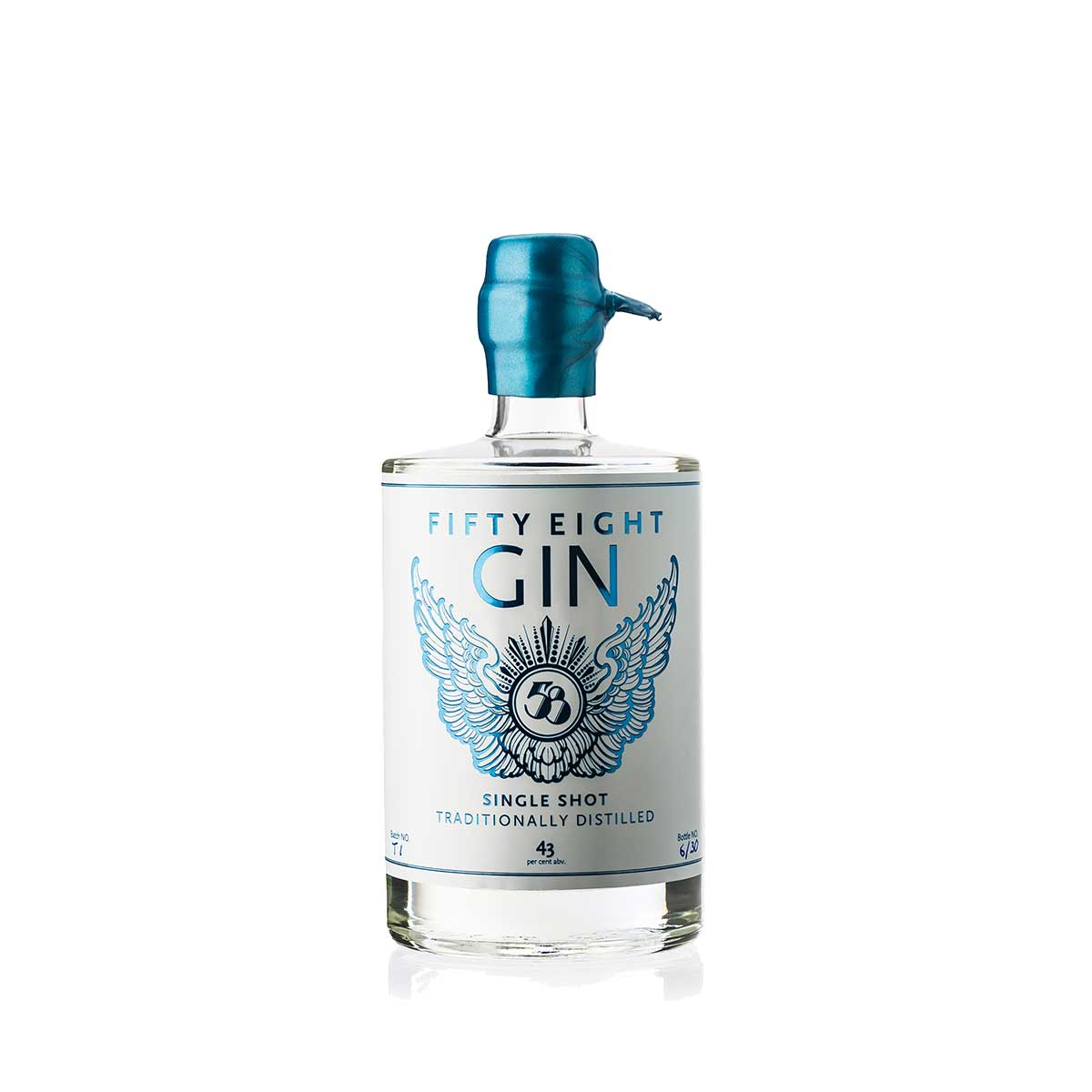 The Fifty Eight Gin bottle