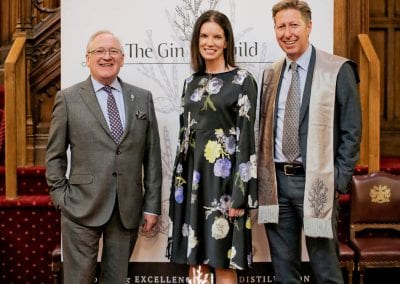 Desmond Payne and Louise Ryan from Beefeater Gin with Ed Pilkington