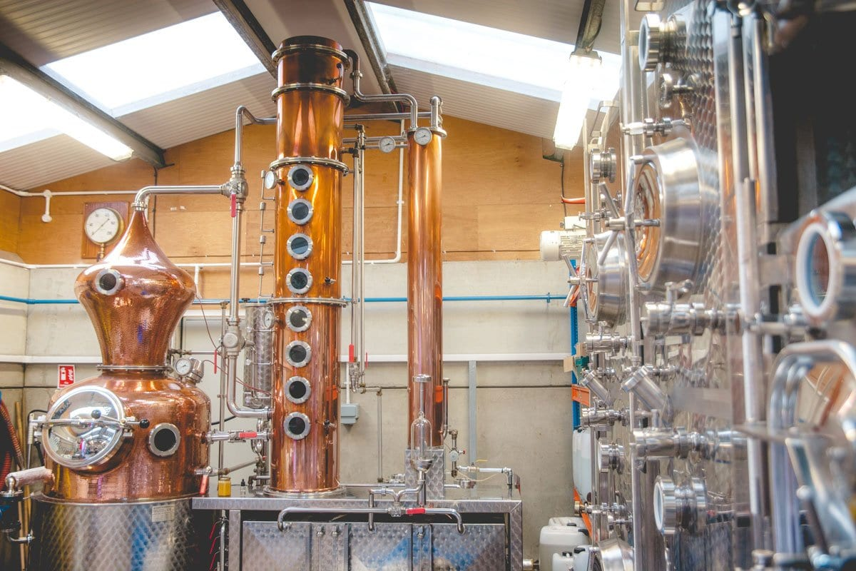 The stills at Silent Pool Distillery in Surrey