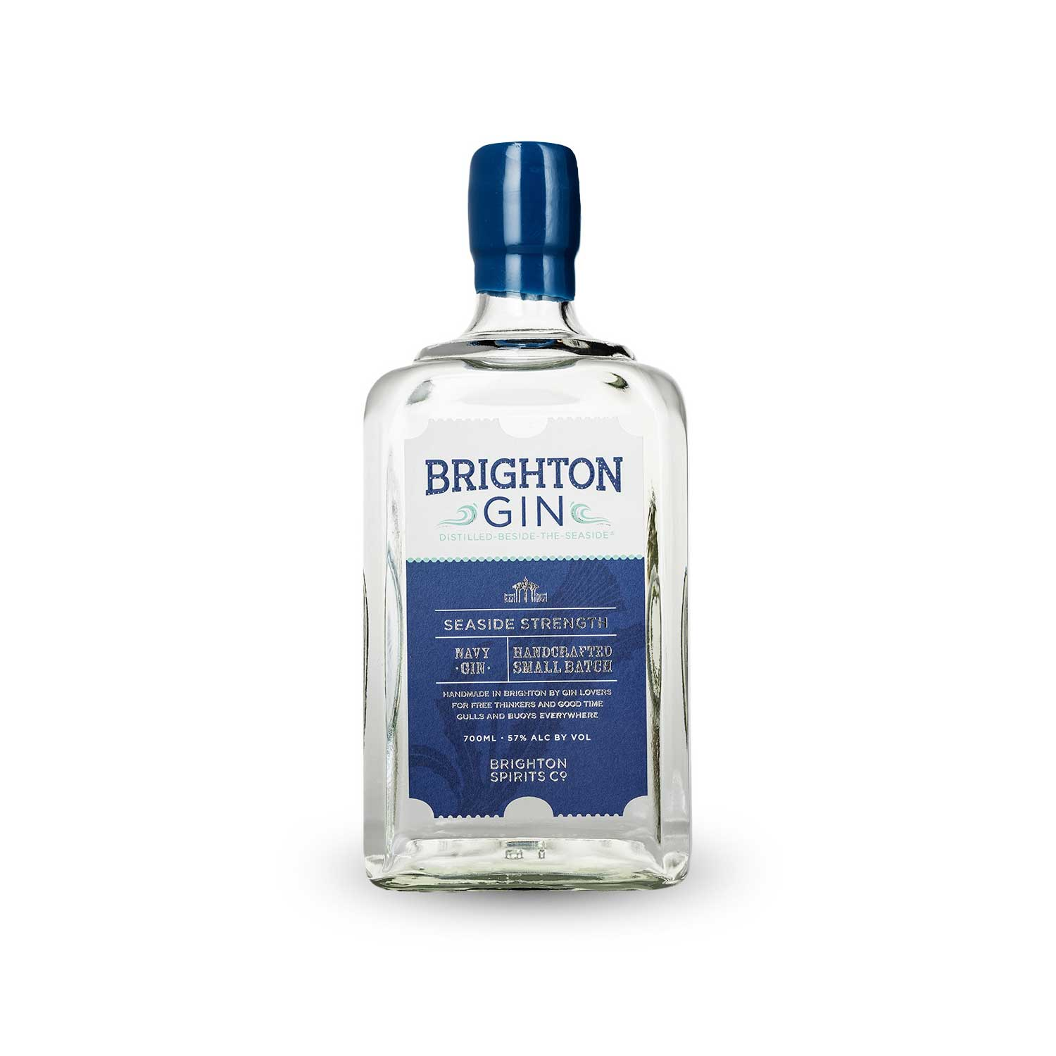 Brighton Gin Seaside Navy Strength Gin Bottle