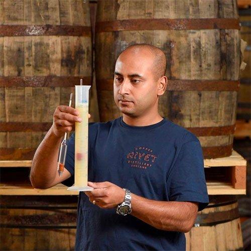 Abhi Banik, Head Distiller at Copper Rivet Distillery